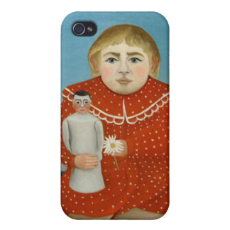 The girl with a doll - Henri Rousseau Cases For iPhone 4
