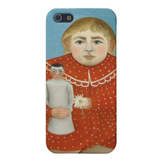 The girl with a doll - Henri Rousseau iPhone 5 Covers