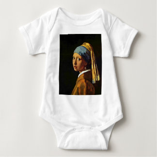 The Girl With A Pearl Earring.,  By Johannes Verme Baby Bodysuit