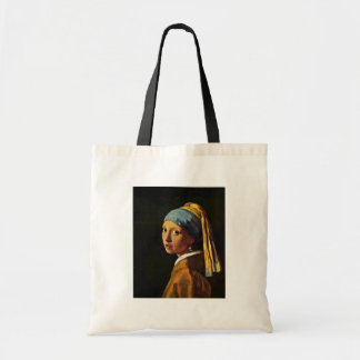 The Girl With A Pearl Earring.,  By Johannes Verme Budget Tote Bag