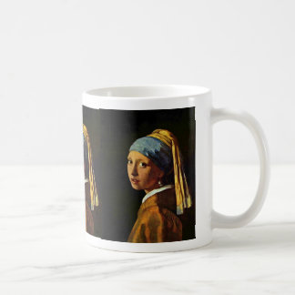 The Girl With A Pearl Earring.,  By Johannes Verme Classic White Coffee Mug