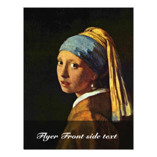 The Girl With A Pearl Earring.,  By Johannes Verme Full Color Flyer