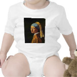 The Girl With A Pearl Earring.,  By Johannes Verme Tee Shirt