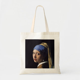 The Girl With A Pearl Earring by Johannes Vermeer Canvas Bag