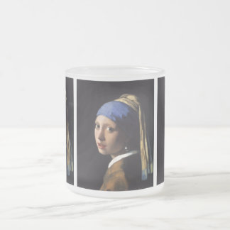 The Girl With A Pearl Earring by Johannes Vermeer Frosted Glass Coffee Mug