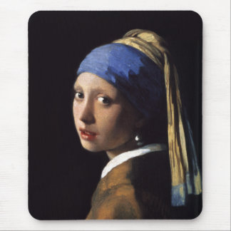The Girl With A Pearl Earring by Johannes Vermeer Mouse Pad