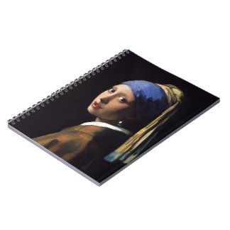 The Girl With A Pearl Earring by Johannes Vermeer Spiral Notebooks