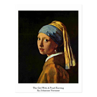 The Girl With A Pearl Earring By Johannes Vermeer Post Card