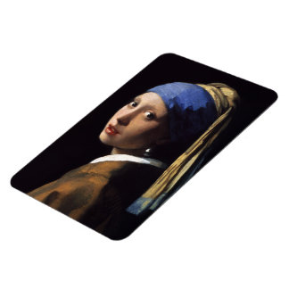 The Girl With A Pearl Earring by Johannes Vermeer Rectangular Photo Magnet