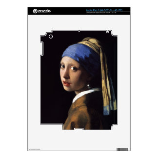The Girl With A Pearl Earring by Johannes Vermeer Skin For iPad 3