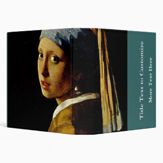 The Girl with a Turban/Girl with the Pearl Earring 3 Ring Binder