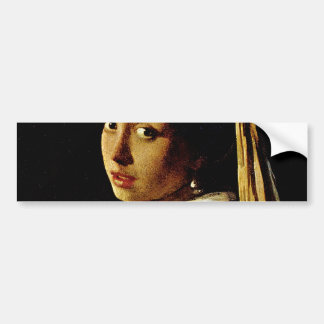 The Girl with a Turban/Girl with the Pearl Earring Car Bumper Sticker