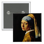 The Girl with a Turban/Girl with the Pearl Earring Pin