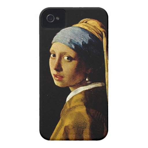 The Girl with a Turban/Girl with the Pearl Earring Case-Mate iPhone 4 Cases