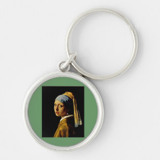 The Girl with a Turban/Girl with the Pearl Earring Keychain
