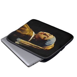 The Girl with a Turban/Girl with the Pearl Earring Laptop Sleeve