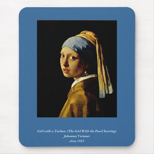 The Girl with a Turban/Girl with the Pearl Earring Mouse Pad