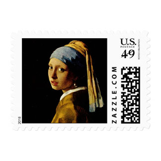 The Girl with a Turban/Girl with the Pearl Earring Postage
