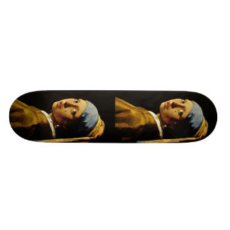 The Girl with a Turban/Girl with the Pearl Earring Skateboard