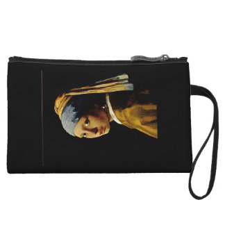 The Girl with a Turban/Girl with the Pearl Earring Wristlet Wallet