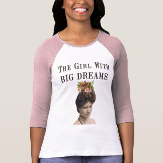 The Girl With Big Dreams Vintage Photo Collage T-Shirt