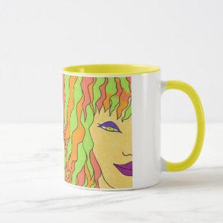 The Girl with Orange and Greeen Hair Mug