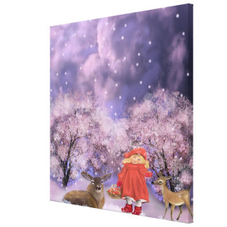 the girl with the apples canvas print