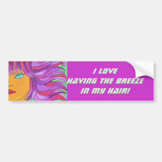 The Girl with the Breeze in Her Hair Bumper Sticker