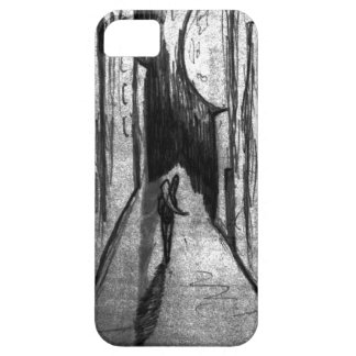 The girl with the guitar and the moon iPhone SE/5/5s case
