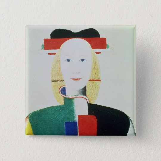 The Girl with the Hat Pinback Button