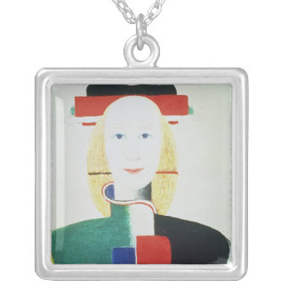 The Girl with the Hat Silver Plated Necklace
