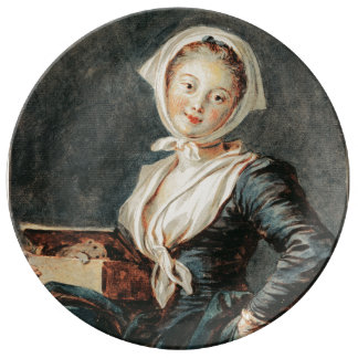 The Girl with the Marmot by Fragonard Porcelain Plate