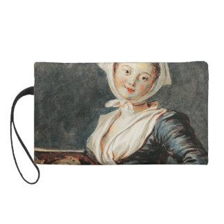 The Girl with the Marmot by Fragonard Wristlet Purse