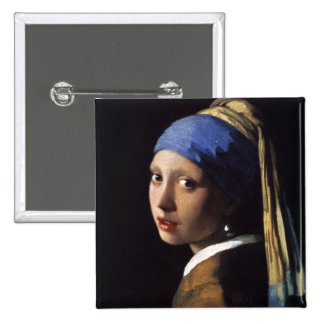 The Girl With The Pearl Earring Button