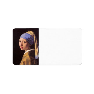 The girl with the pearl earring by Vermeer Address Label