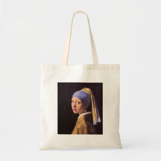 The girl with the pearl earring by Vermeer Canvas Bag