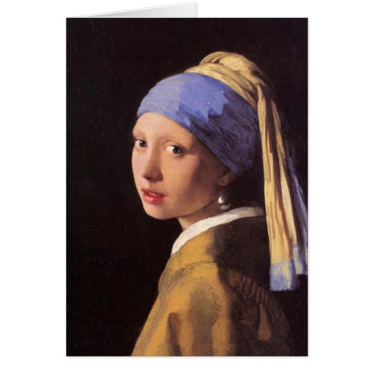 The girl with the pearl earring by Vermeer Card