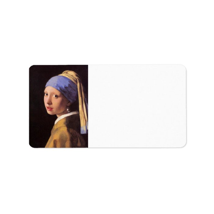 The girl with the pearl earring by Vermeer Label