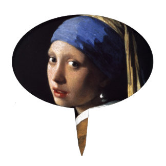 The Girl With The Pearl Earring Cake Topper