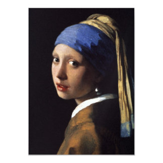 "The Girl With The Pearl Earring 4.5"" X 6.25"" Invitation Card"