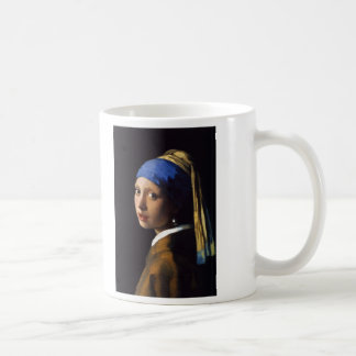 The Girl With The Pearl Earring Johannes Vermeer Classic White Coffee Mug