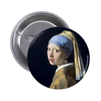 The Girl With The Pearl Earring Pinback Button