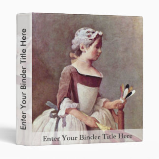 The Girl With The Shuttlecock By Chardin Jean-Bapt 3 Ring Binders