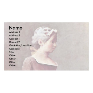 The Girl With The Shuttlecock By Chardin Jean-Bapt Double-Sided Standard Business Cards (Pack Of 100)