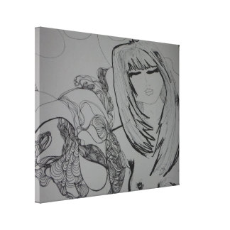 The Girl with the Tatto Gallery Wrapped Canvas
