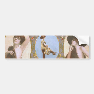 The Girl with the Whooping Cough Retro Theater Bumper Stickers
