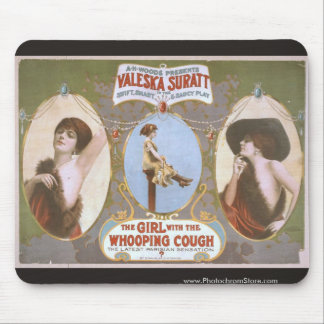 The Girl with the Whooping Cough Retro Theater Mouse Pad