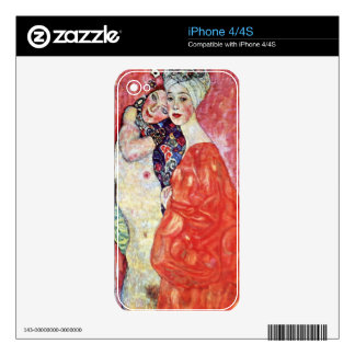 The girlfriends by Gustav Klimt Skin For The iPhone 4