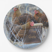 """The Girls"" Chicken Paper Plate"