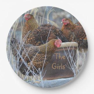 """The Girls"" Chicken Paper Plate"